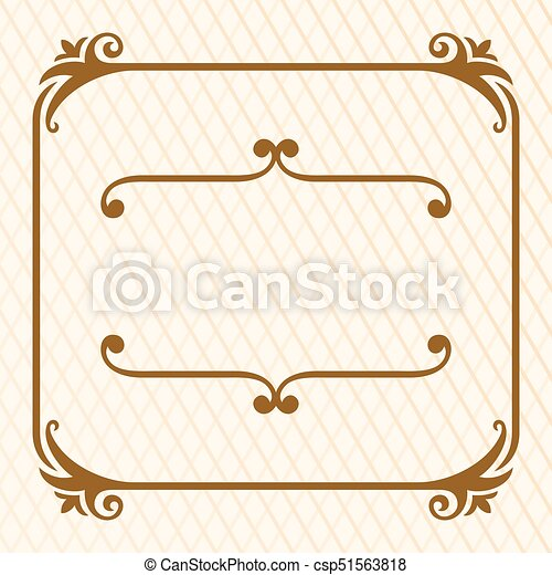 Decorative frame - csp51563818