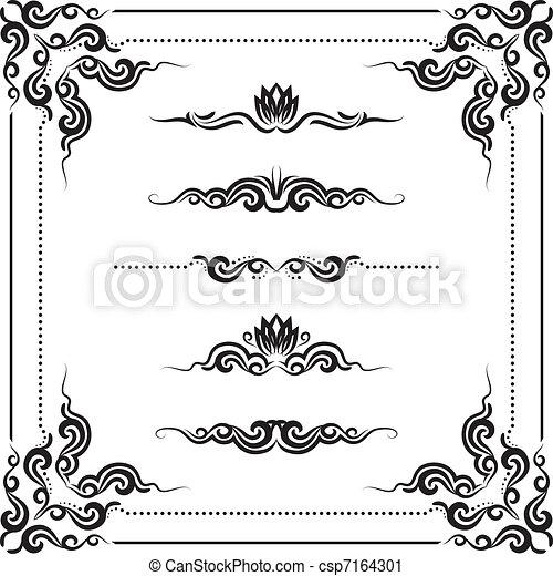 decorative frame - csp7164301