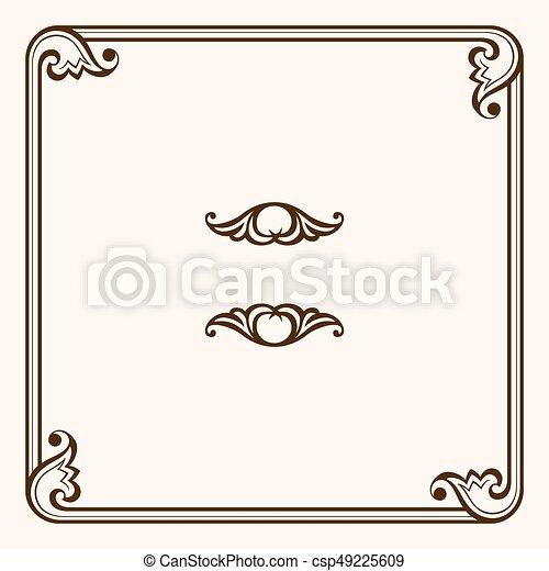 Decorative frame - csp49225609