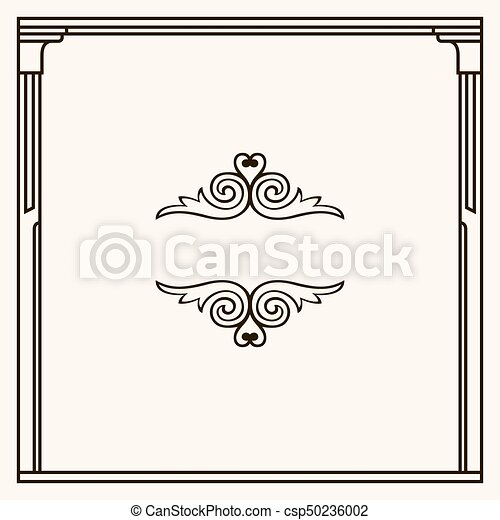Decorative frame - csp50236002