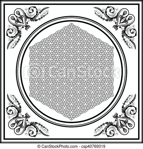Decorative frame with ornaments. Decorative square frame ornate ...