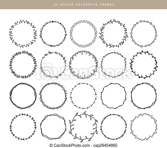 Decorative frames 20 set - csp29454865