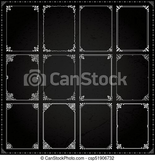 939a697bd0e Decorative frames and borders rectangle proportions set 7 - csp51906732