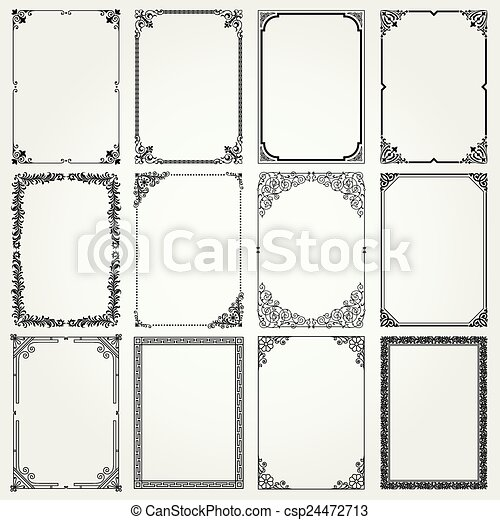 Decorative frames and borders - csp24472713