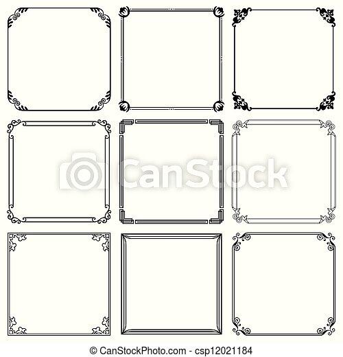 Decorative frames - csp12021184