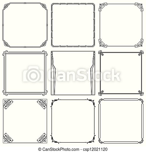 Decorative frames  - csp12021120