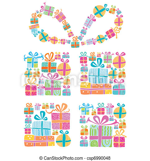 Decorative gift box - csp6990048