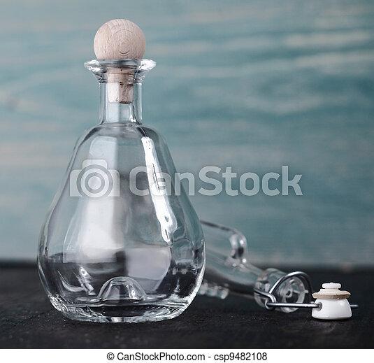 Decorative glass decanter - csp9482108
