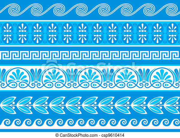 Decorative greek borders - csp9610414