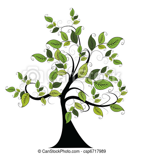 decorative green tree - csp6717989