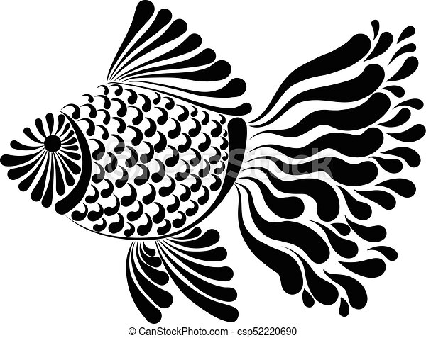 Line Art Of Fish : Decorative image of a fantastic fish vector illustration eps vectors