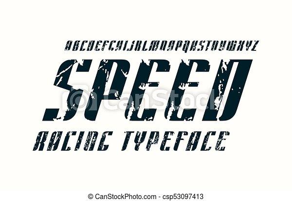 Decorative Italic Sans Serif Font