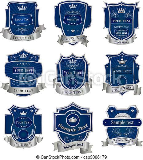 Decorative labels collection set vector - csp3008179
