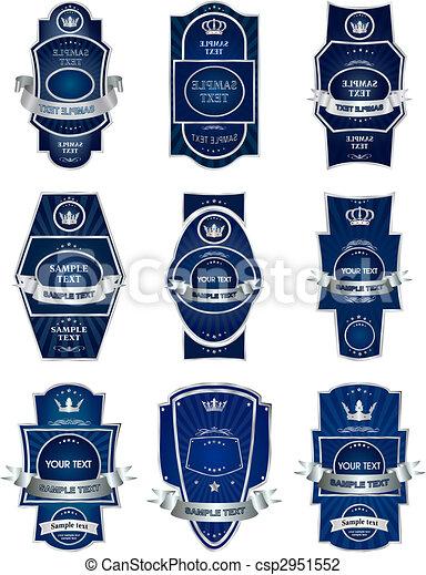 Decorative labels collection set vector - csp2951552