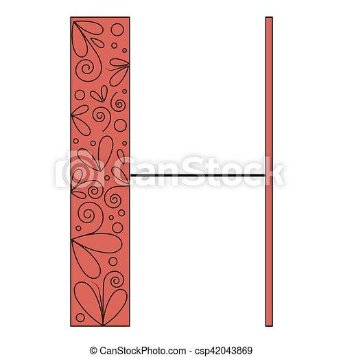 Decorative letter shape h decorative letter shape font clip art decorative letter shape h csp42043869 altavistaventures Choice Image