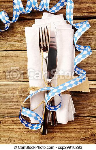 Decorative Oktoberfest table setting - csp29910293
