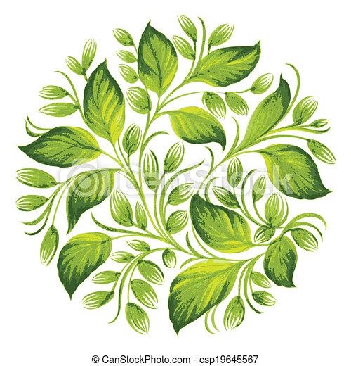 decorative ornament herbal circle - csp19645567