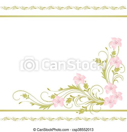 decorative ornament decorative corner floral ornament can stock photo