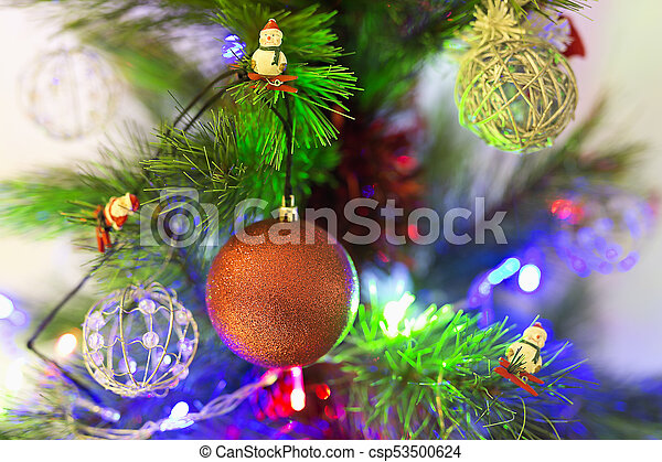 Decorative ornaments of a Christmas tree. - csp53500624