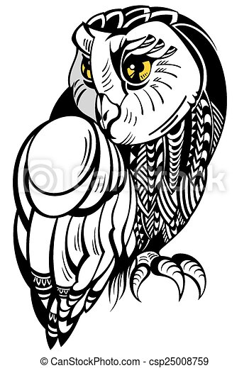 decorative owl vector bird rh canstockphoto com cartoon owl vector art owl vector art free