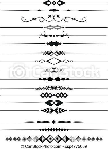Decorative page dividers - csp4775059