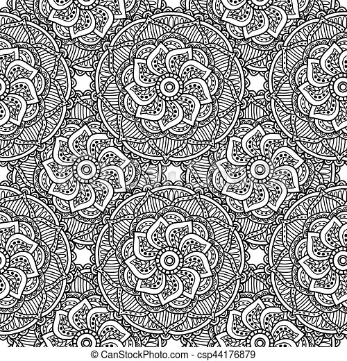 Decorative Pattern For Adult Coloring Book Wallpapers Hand Drawn Doodle Image