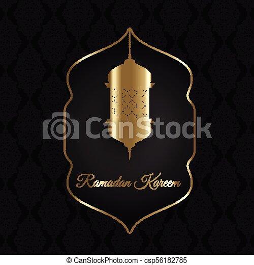 Decorative Ramadan Kareem background - csp56182785