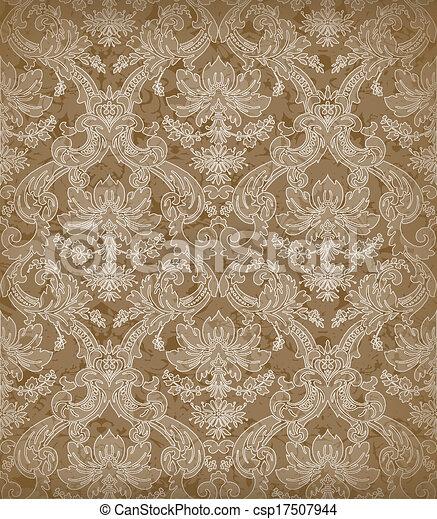 Decorative renaissance background - csp17507944