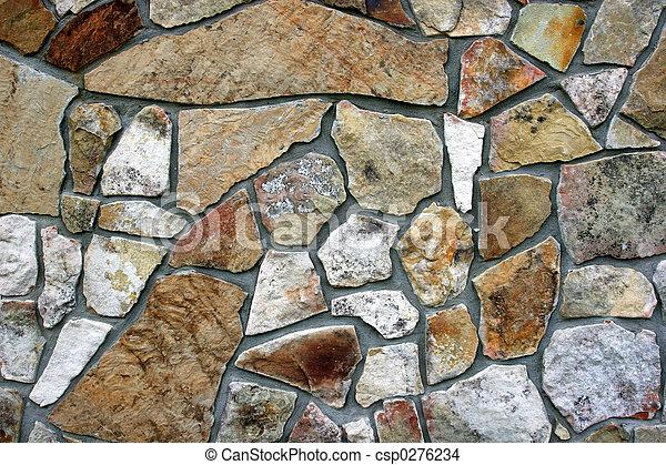 Closeup of decorative rock wall. stock photo - Search Photographs ...