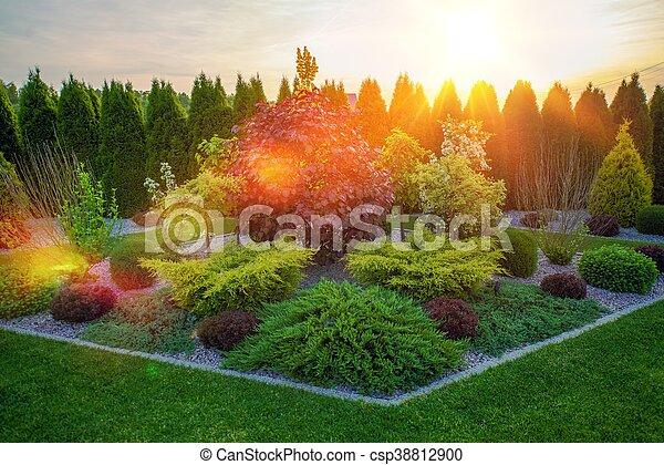 Decorative Rockery Garden - csp38812900