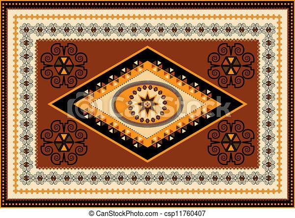 Decorative Rug Designs In Oriental Vector