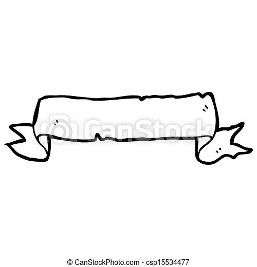 decorative scroll cartoon - csp15534477