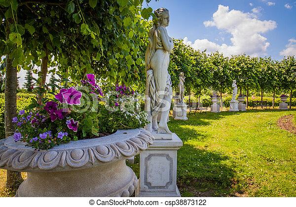 Decorative Sculptures In The Garden