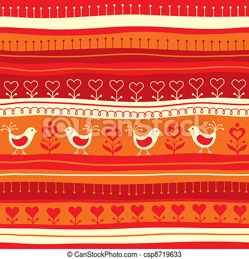 Decorative seamless background - csp8719633