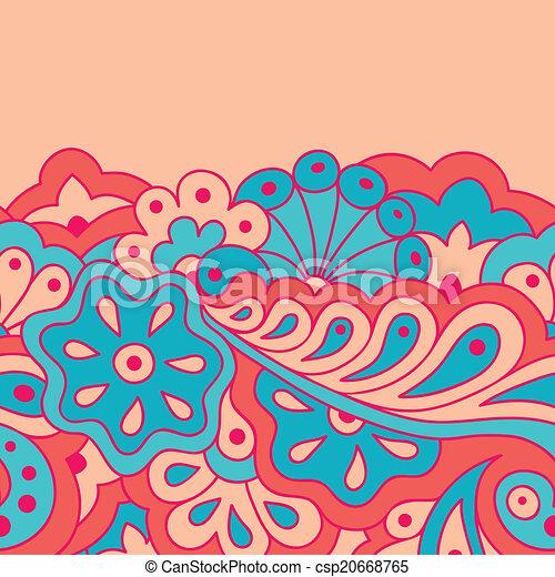 Decorative seamless border - csp20668765