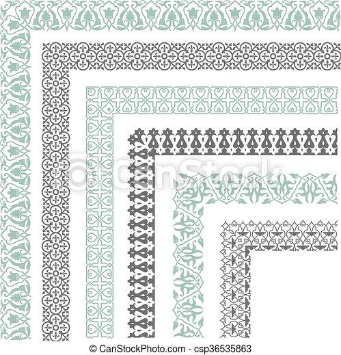 Decorative seamless border - csp36535863