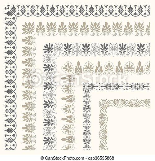 Decorative seamless border - csp36535868
