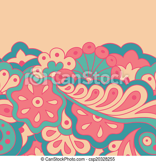 Decorative seamless border - csp20328255