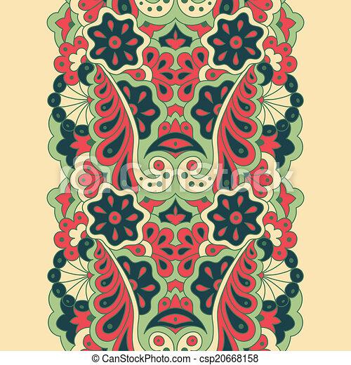 Decorative seamless border - csp20668158