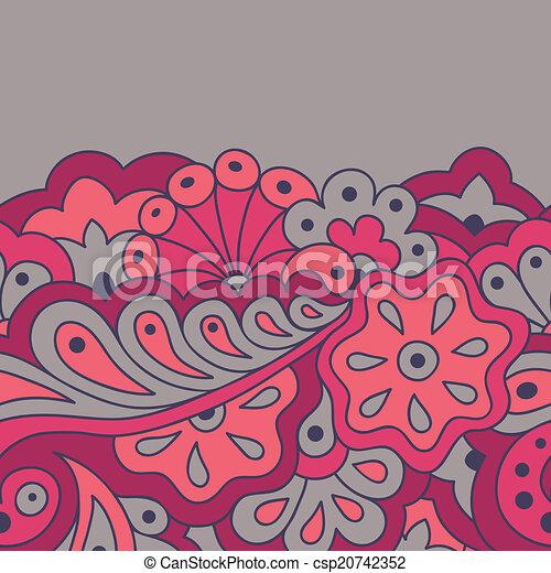 Decorative seamless border - csp20742352