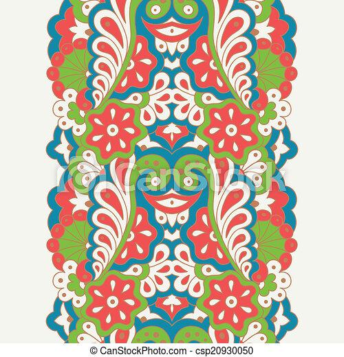 Decorative seamless border - csp20930050