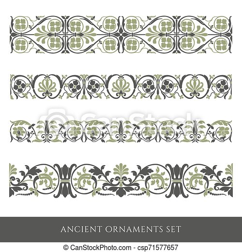 Decorative seamless border - csp71577657