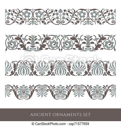 Decorative seamless border - csp71577659
