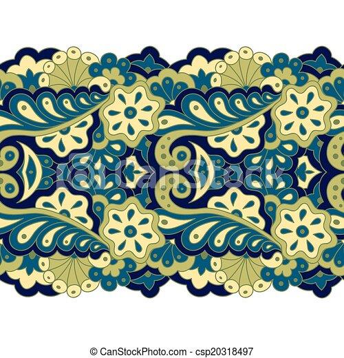 Decorative seamless border - csp20318497