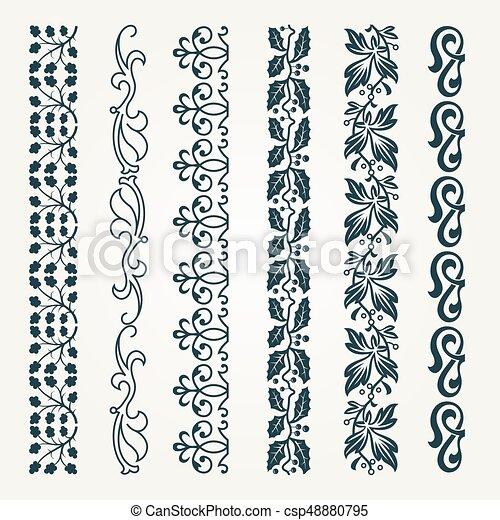 Decorative seamless border - csp48880795