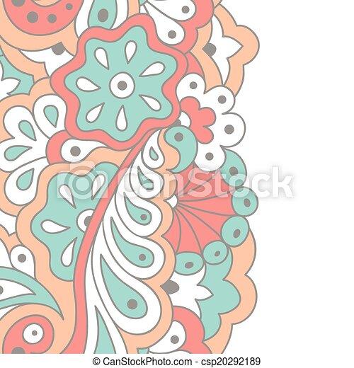 Decorative seamless border - csp20292189