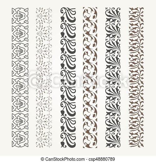 Decorative seamless border - csp48880789