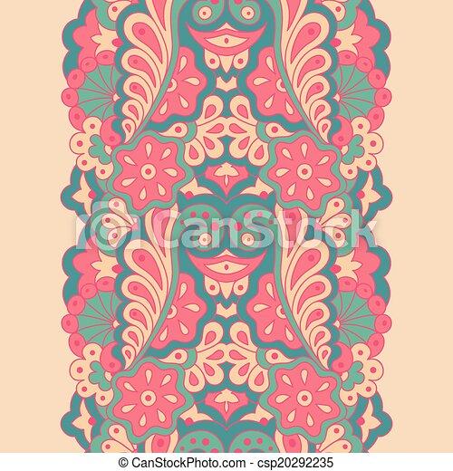 Decorative seamless border - csp20292235
