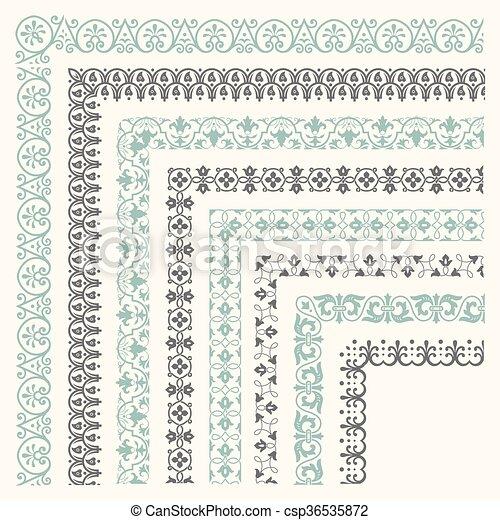 Decorative seamless border - csp36535872