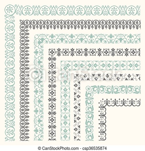 Decorative seamless border - csp36535874
